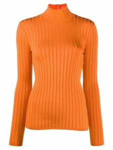 Nina Ricci embroidered logo jumper - ORANGE