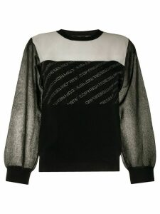 Diesel contrast-panel sweatshirt - Black