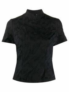 Comme Des Garçons Girl floral jacquard Qipao shirt - Black