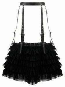 Comme Des Garçons Noir Kei Ninomiya ruffled buckle skirt - Black