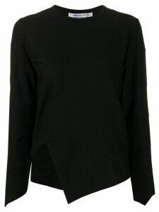 Comme Des Garçons Comme Des Garçons asymmetric paneled sweatshirt -
