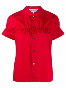 Comme Des Garçons Girl cinched detail short-sleeve shirt - Red