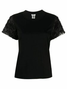 Comme Des Garçons Noir Kei Ninomiya floral applique T-shirt - Black