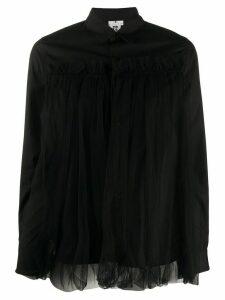 Comme Des Garçons Noir Kei Ninomiya sheer overlay shirt - Black