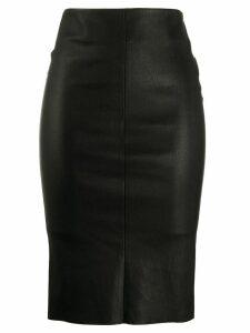 Drome leather pencil skirt - Black