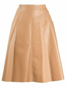 Drome leather A-line skirt - NEUTRALS