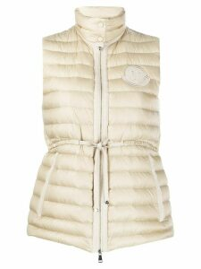 Moncler quilted fitted gilet - NEUTRALS