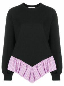 MSGM ruffle trim sweatshirt - Black
