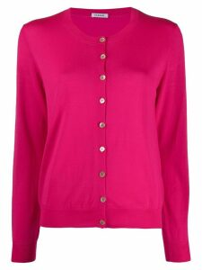 P.A.R.O.S.H. round neck buttoned cardigan - PINK