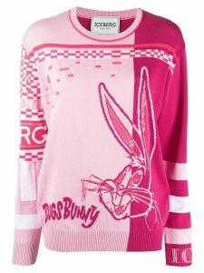 Iceberg Bug Bunny sequin-embroidered jumper - PINK
