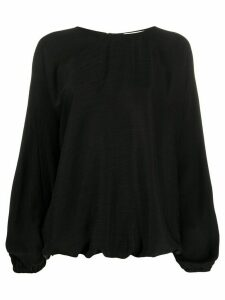 Áeron crew neck loose-fit blouse - Black