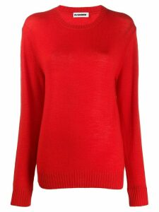 Jil Sander round neck jumper - Red