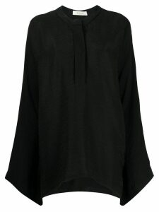 Áeron plain oversized blouse - Black