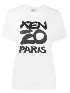Kenzo graphic logo-print T-shirt - White