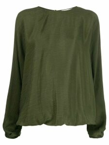 Áeron long-sleeved loose-fit blouse - Green