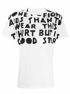 Maison Margiela AIDS Charity-print T-shirt - White