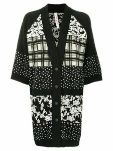 Antonio Marras printed patchwork cardigan - Black