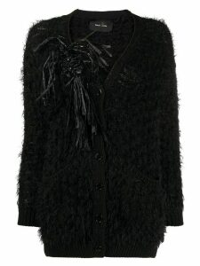 Simone Rocha embellished frayed cardigan - Black