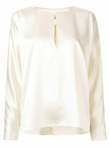 La Collection Yumi satin blouse - White