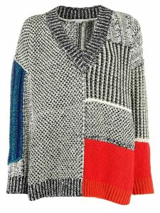 Stella McCartney mixed texture jumper - Black