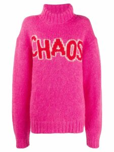 House of Holland Chaos oversized jumper - PINK