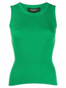 Paule Ka fine knit tank top - Green
