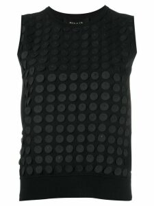 Paule Ka polka dot appliqué tank top - Black