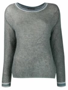 Luisa Cerano fine knit jumper - Blue