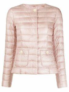 Herno snap fastening padded jacket - PINK
