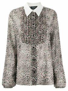 Rochas floral print bell sleeve shirt - Black