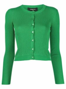 Paule Ka cropped fine knit cardigan - Green