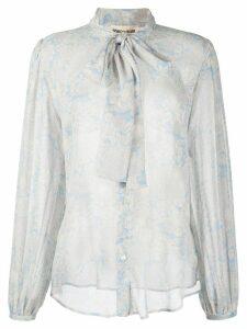 Semicouture paisley floral print blouse - Blue