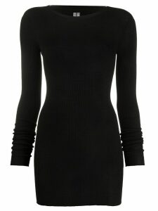 Rick Owens ribbed knit mid-length jumper - Black