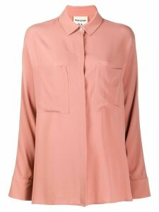 Semicouture Gabrielle concealed button shirt - PINK