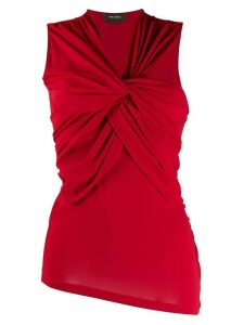 Isabel Marant sleeveless twist front blouse - Red