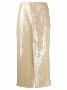 Roland Mouret Nobel sequinned skirt - NEUTRALS