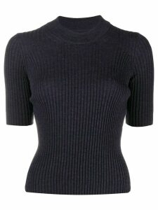 Maison Margiela ribbed knitted top - Blue