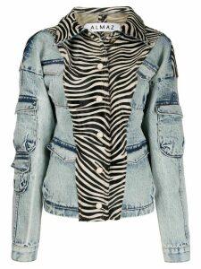 Almaz zebra print denim jacket - Blue