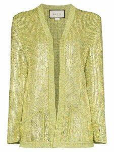 Gucci crystal-embellished cardigan - Green