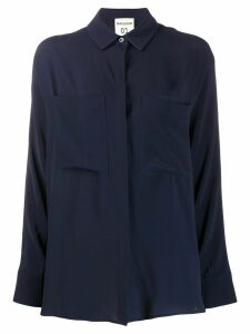 Semicouture Gabrielle concealed button shirt - Blue