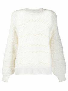 IRO Simius contrast knit jumper - White