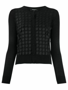 Paule Ka polka dot appliqué cardigan - Black