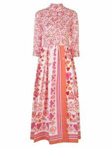 Sara Roka heart-print shirt dress - PINK