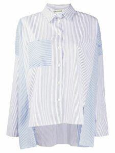 Semicouture contrast stripe print shirt - White