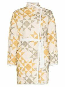 Isabel Marant Étoile Sandrine geometric quilted jacket - NEUTRALS