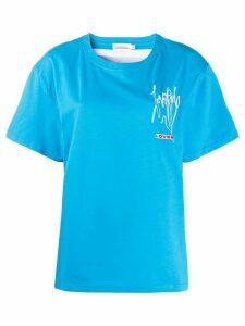 Charles Jeffrey Loverboy back photo print T-shirt - Blue