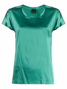 Pinko sheen effect round neck blouse - Green