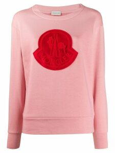 Moncler logo patch jumper - PINK