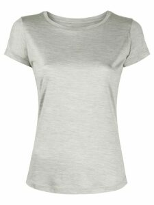 Incentive! Cashmere round neck silk T-shirt - Grey