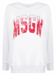 MSGM ombré-logo loose-fit sweatshirt - White